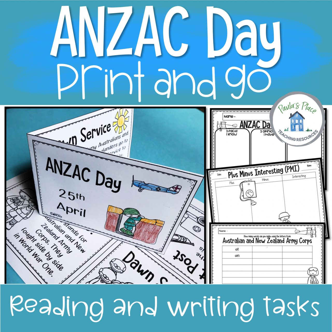 Make an ANZAC Day booklet