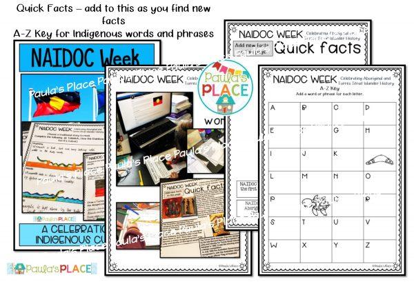 Samples of tasks included in the NAIDOC WeekPack