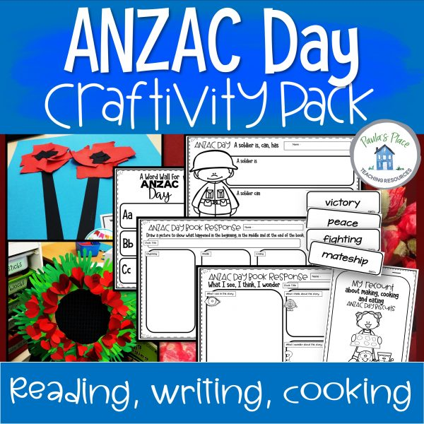 anzac day cooking, craft, reading and writing